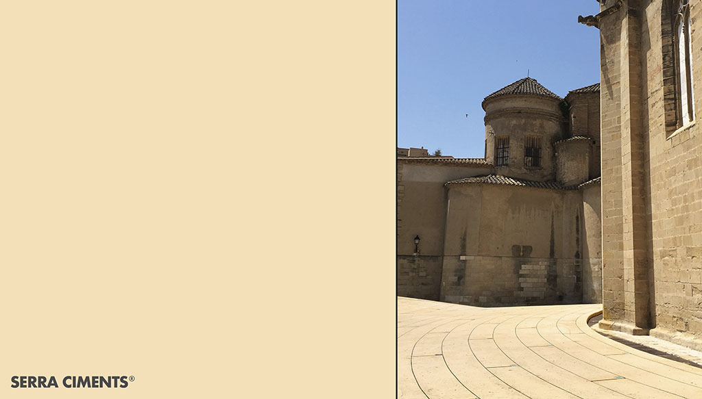 catedral de tortosa realizada con pigmento amarillo de Serra Ciments