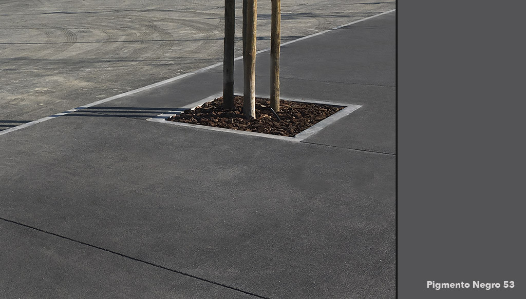 nova central de cruzeiros de Lisboa, pavimento negro realizado con pigmento de Serra Ciments