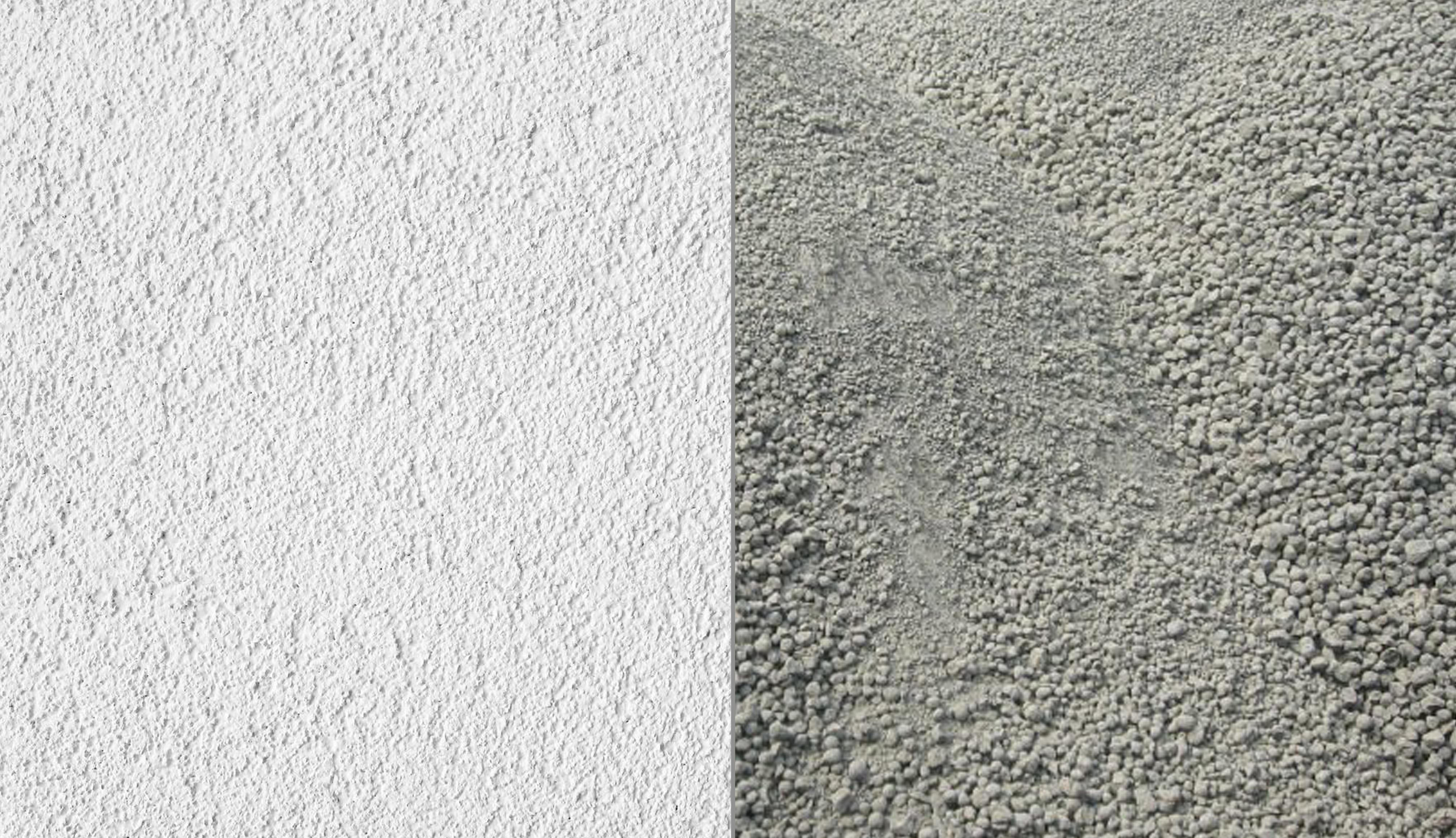 cementos blancos y grises