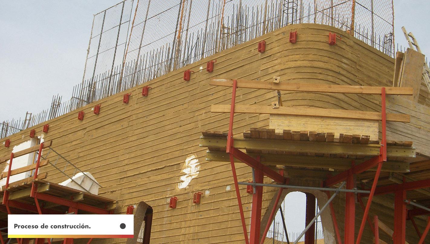 villanueva de la serena construcción con pigmentos para hormigón