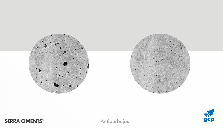 antiburbujas hormigon